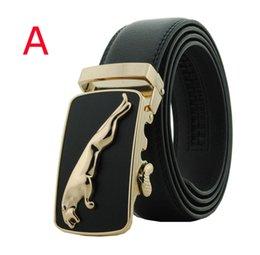 Wholesale Men s Genuine Leather Automatic Ratchet Buckle belt strap casual dress belt black cowhide belt