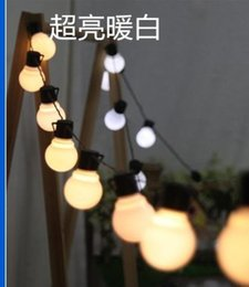Outdoor patio decorating their wedding celebration party decoration 10M ball steep light waterproof 38LED lights series