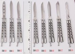Wholesale 8 tyles Export version Butterfly knife BM40 BM41 BM42 BM43 BM46 BM47 BM49 c Blade Casting Steel Handle Folding Knife