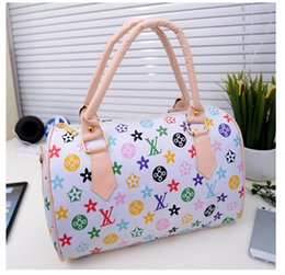 Wholesale new arrival Women bags Famous Brand Designer PU Leather Barrel Handbags Ladies Female same kind as star