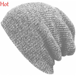 2015 Hot Winter Beanies Solid Color Hats Unisex Plain Warm Soft Beanie Skull Knitted Cap Hip-hop Hat Touca Gorro Caps Men Women SV024880