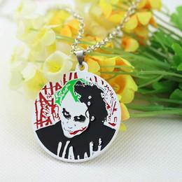 2015 New Arrival Batman Joker Character Head Portrait Necklace 2 color Trendy Movie Jewelry 10 pcs lot