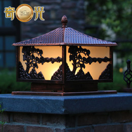 Wholesale Chinese garden fence lamppost headlights vintage lamp post lights outdoor garden patio tile cover Landscape W10415
