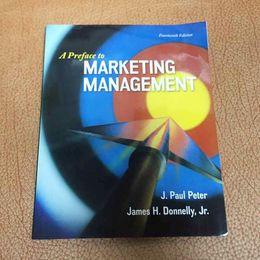 Wholesale Newest A Preface to Marketing Management