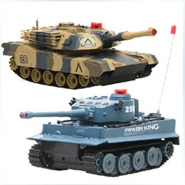 Wholesale Newest RC Tanks HQ508 RC Battle Tank Set Two Infra Red Laser Tank Remote Control Military Tanks RTR Toys Intelligence Family Games Battle