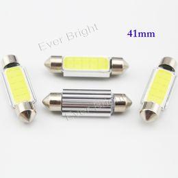 Wholesale 10pcs New Products Festoon COB Canbus mm mm mm mm V No Error Canbus Festoon COB LED Car License Plate Light Lamps