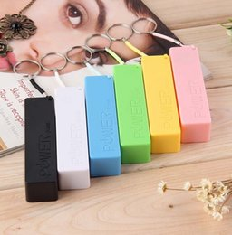 Wholesale Portable Power Bank Mobile USB Battery Charger Key Chain KeyChains for iPhone MP3