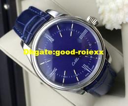 Promotion cru mens watch automatique Automatique Montre Homme Blue Elegance Gents Hommes Dial Classic Vintage Cellini Mens Business Montres en cuir