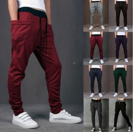 Wholesale Joggers Pants For Boys S5Q Track Sweat Pants Basketball Sport Jogging Pants Hip Hop Gym Jogger Dance Slacks Harem Baggy Sweat Pants AZALEA