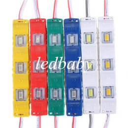 3 Led Module with Square lens Waterproof 5630 SMD New led modules 1.2W DC12V Red Green Blue Yellow   white  warm white