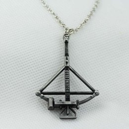 Wholesale Hot movie jewelry AMC The Walking Dead Crossbow Pendant Necklace Fight the Dead Fear the Living fashion necklace