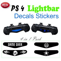Wholesale 4pcs Light Bar Decal Led Skin Sticker Decal for PlayStation PS4 Controller DualShock