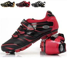 Wholesale-Teibao Brand Cycling Shoes MTB Mountain Bike Shoes Carbon Nylon-fibreglass Soles Riding Professional Athletic Shoes 3 Colours