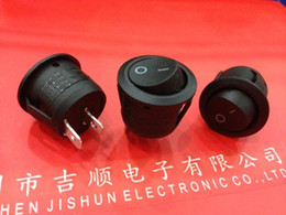 Wholesale Round Rocker Switch KCD1 foot switch two black A V A V