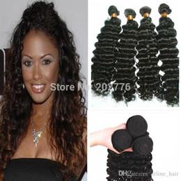 24 profonds faisceaux de cheveux bouclés en Ligne-Grade 9A Cheveux de Vierge, bruts brésiliens non transformés 1pcs / lot cheveux brésiliens bruts bruns cheveux bruns tendres Livraison gratuite