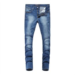 2016 original innovation light blue summer thin skin-tight jeans Skinny pants pencil pants jeans men ZAS368
