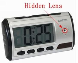 Spy Hidden Camera Clock HD Digital camera Alarm Clock Motion Detector Sound Recorder Digital Video clock With Remote Control For security