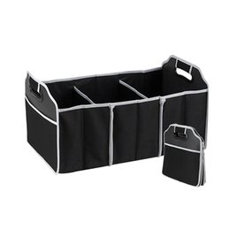 Wholesale Car Organizer Boot Stuff Food Storage Bags trunk organiser Automobile Stowing Tidying Interior Accessories Folding Collapsible