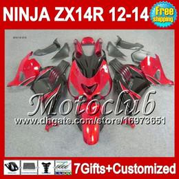 7gifts For KAWASAKI 12 13 12 13 ZX14 R NINJA ZX-14R 12-13 25C139 Red black ZX14R ZX 14R 2012 2013 2012 2013 NEW Red black ZX 14 R Fairing