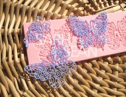Wholesale Silicone Butterfly Lace Fondant Embossed Mold Sugarcraft Cake Decorating Mould