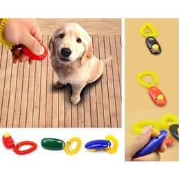 Wholesale Hot Sales Pet Supplies Dog Cat Puppy Click Clicker Training Obedience Trainer Aid Tools Plastic Mixed Colors MD4