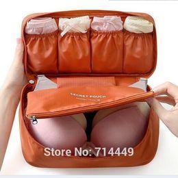 Women Makeup Cosmetic Bag Wash Makeup Organizer Sanitary Towel Box Travel Wash Bag Underwear Bra Makeup Secret Pouch A3A5