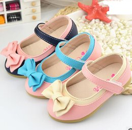 sweet children shoes girls shoes cute bowknot children single shoes fashion style leather shoes for girls