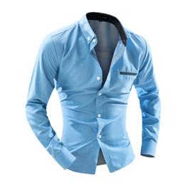 Wholesale-Hot New Long Sleeve Men Shirts Casual Business Mens Dress Shirts Polka Dot Shirt Men Long Shirt Camisa Masculina TB006