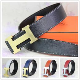 Wholesale 2015 new hip brand buckle h designer belts for men women genuine leather gold cinto belt Men s