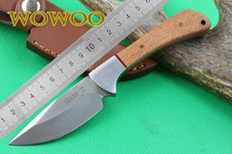 Descuento cuchillos de perlas manejado OEM EDC Boker PE558 Cuchillo fijo de la lámina Manija de madera de la perla con el pequeño acampar recto de acampada Cuchillos al aire libre tácticos de la colección del regalo de la caza