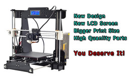Wholesale Upgrade desktop D Printer large Prusa i5 Size mm Acrylic Frame LCD Kg Filament G TF Card for gift Fast ship Free