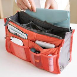 Wholesale Large Tote Storage Bag - 2016 HOT Women Travel Insert Handbag Purse Large liner Tote Bags Organizer Bag Storage Bags Amazing make up bags 14Colors SPO2016