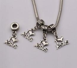 "Hot Sell ! 100pcs Antique Silver ""I Love Jesus"" Heart Religious Dangle Beads Fit Bracelet 23x16 (403)"