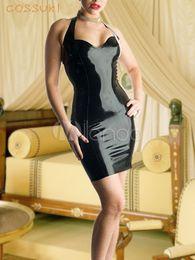 Wholesale Newest Halloween High quality Black Latex Cherry Pie Zentai Suit