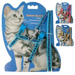 Wholesale Cat Suppliers Nylon Cat Harness and Leash Set Dog Kitten Small Dogs Belt Harnesses Various Colors