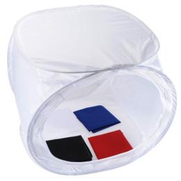 De haute qualité de 50 * 50 * 50 cm Tente Photo Box souple Photographie Lumière Cube Softbox pour la caméra accessoires Studio avec 4 Backdrops à partir de photo boîte de tente fournisseurs