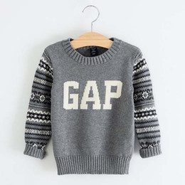 Wholesale Boys Sweater Kids Pullover Child Clothes Kids Clothing Autumn Winter Crochet Sweater Children Pullover Baby Sweaters Kids Wear C15665
