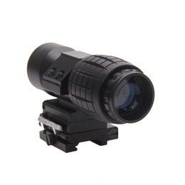 Funpowerland Tactical 3x Magnifier Scope mounts Flip To Side Quick release 20mm rail
