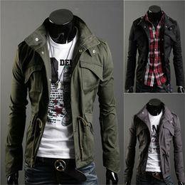 Wholesale Korean men s jackets Fall Winter season Long sleeved Outerwear for men Males Lapel Clothing fashion Men coat big yards colors