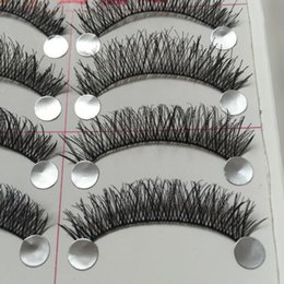 DAILY EYEMAKEUP NATURAL FALSE EYELASHES LONG THICK EYE LASHES NUDE MAKEUP Nude COTTON STALK FASHION LASHES FAKE EYELASHES 20PCS eyelashes