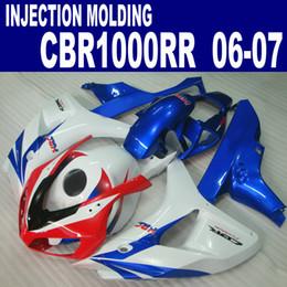 Injection molding fairing body kit for HONDA fairings CBR1000RR 06 07 red white blue bodywork set CBR 1000 RR 2006 2007 VV20