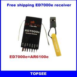Wholesale 2 G Digital Spread Modulation ch ED7000e RC Receiver replace AR6210 AR6200 AR6100E AR6100 for JR DX6i DX7 DX8