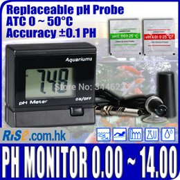 Wholesale Digital pH Meter Water Tester pH Monitor for Aquarium Replaceable BNC probe ATC