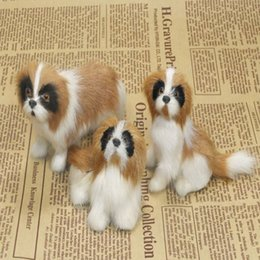 Wholesale 3 pieces a set small cute simulation Saint Bernard dog toys polyethylene furs dog dolls gift about cm