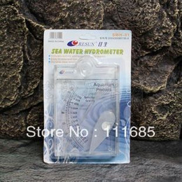 Wholesale Resun SWH High Quality Small Size Plastic Salinity Hydrometer Reef Tank Fish Tank Aquarium