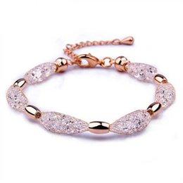 2017 cristales checo pulseras 2015 Infinity 18K oro plateado checo cristal stardust encanto pulsera para el brazalete de la amistad de las mujeres presupuesto cristales checo pulseras