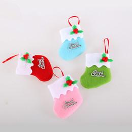 Wholesale Cutest Christmas Tree - mini Christmas stockings super cute 6.5*8*9cm christmas socks beautiful christmas tree ornaments gifts 2015