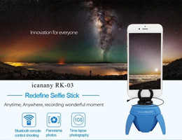 RK03 Wirless Bluetooth Self-timer 360 Degree Rotate Auto Face Detection Selfie Auto Photo Electronic Robot for Android iOs