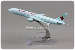 Wholesale cm Alloy Metal Air Canada Airlines Airplane Model Boeing B777 Airways Plane Model Diecast Toy