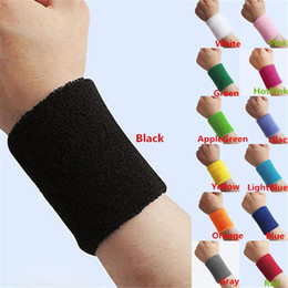 Wholesale New Arrivals Unisex Sports Wrist Support Band Sports Safety Tennis Yoga Basketball Gym Latex Silk Cotton Size CM CX109